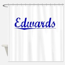 Edwards, Blue, Aged Shower Curtain