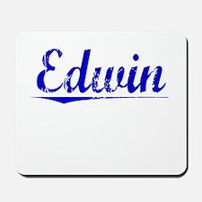 Edwin, Blue, Aged Mousepad