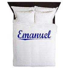 Emanuel, Blue, Aged Queen Duvet