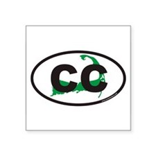 Cape Cod CC Euro Oval Sticker with Map Sticker