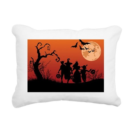 SPOOKY FRIENDS Rectangular Canvas Pillow
