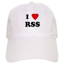 I Love RSS Baseball Cap