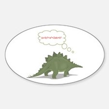 THINKING DINO Oval Decal