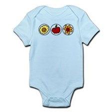 Flowers And Apple Infant Bodysuit