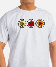 Flowers And Apple T-Shirt
