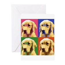 Golden a la Warhol Greeting Cards (Pk of 20)
