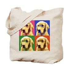 Golden Retriever Pop Art Tote Bag