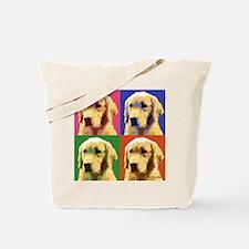 Golden Retriever Pop Art Tote Bag