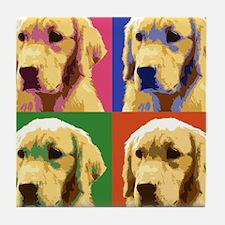 Golden Retriever Pop Art Tile Coaster