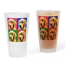 Golden Retriever Pop Art Drinking Glass