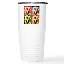 Golden a la Warhol Travel Mug