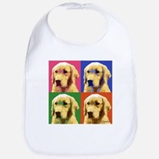 Golden Retriever Pop Art Bib