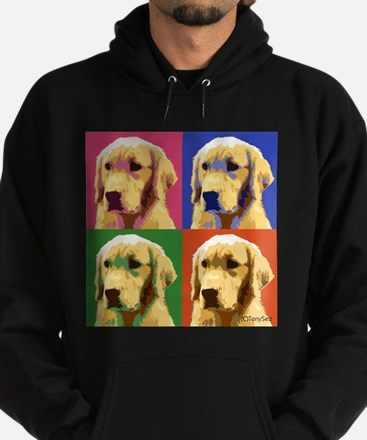 Golden Retriever Pop Art Hoodie (dark)