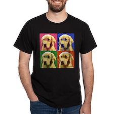 Golden Retriever Pop Art T-Shirt