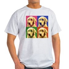 Golden Retriever Pop Art T-Shirt