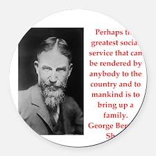 george bernard shaw quote Round Car Magnet
