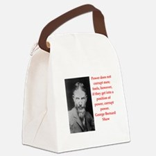 george bernard shaw quote Canvas Lunch Bag
