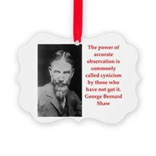 george bernard shaw quote Ornament
