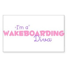 I'm a Wakeboarding diva Rectangle Bumper Stickers