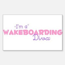 I'm a Wakeboarding diva Rectangle Decal
