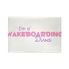 I'm a Wakeboarding diva Rectangle Magnet