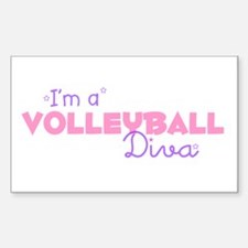 I'm a Volleyball diva Rectangle Decal