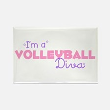 I'm a Volleyball diva Rectangle Magnet