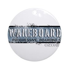Wakeboard Ornament (Round)