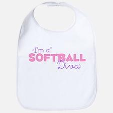 I'm a Softball diva Bib