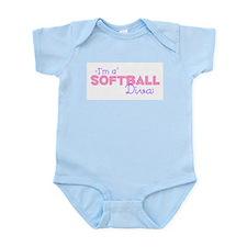 I'm a Softball diva Infant Creeper