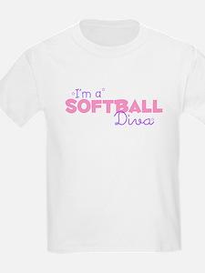 I'm a Softball diva Kids T-Shirt