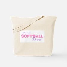 I'm a Softball diva Tote Bag