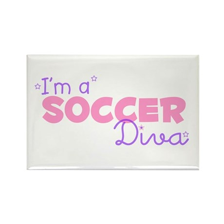 I'm a Soccer diva Rectangle Magnet