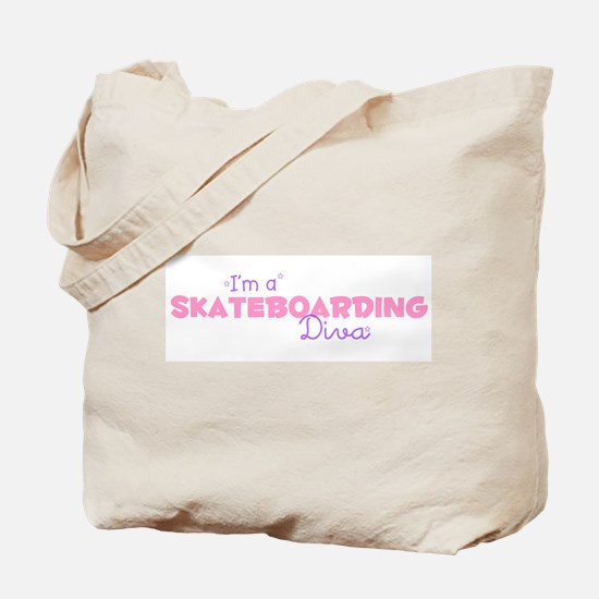 I'm a Skateboarding diva Tote Bag