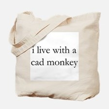 cad monkey live-in Tote Bag