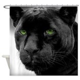 Black panther Shower Curtains