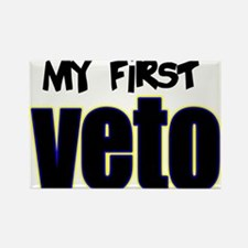 Baby's First Veto Rectangle Magnet