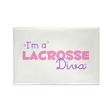 I'm a Lacrosse diva Rectangle Magnet