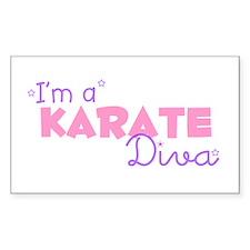 I'm a Karate diva Rectangle Decal