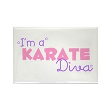 I'm a Karate diva Rectangle Magnet