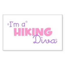 I'm a Hiking diva Rectangle Decal