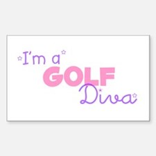 I'm a Golf diva Rectangle Decal
