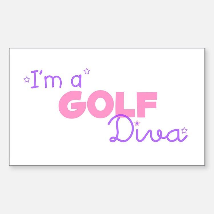 I'm a Golf diva Rectangle Decal