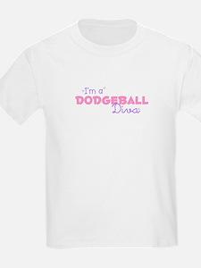 I'm a Dodgeball diva Kids T-Shirt