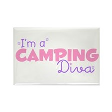 I'm a Camping diva Rectangle Magnet