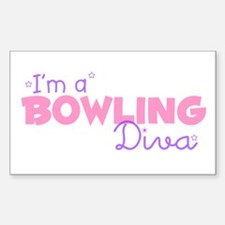 I'm a Bowling diva Rectangle Decal