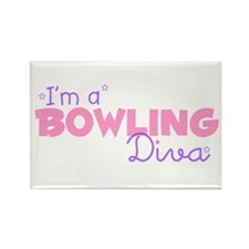 I'm a Bowling diva Rectangle Magnet