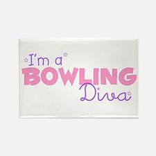 I'm a Bowling diva Rectangle Magnet