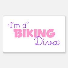 I'm a Biking diva Rectangle Decal