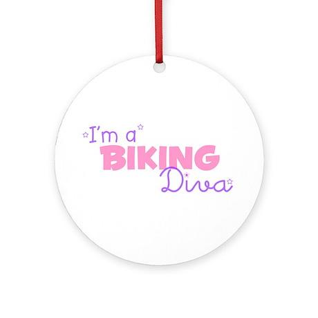 I'm a Biking diva Ornament (Round)